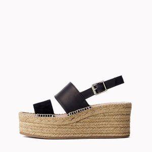Rag & Bone Edie Platform Leather Espadrille Sandal
